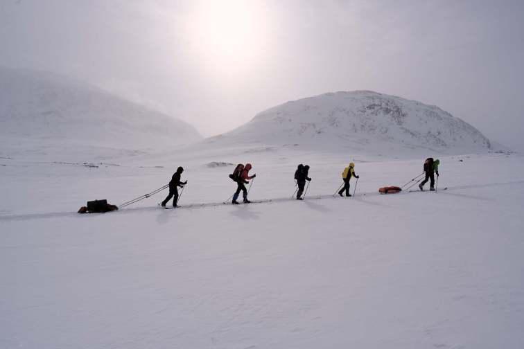 Kungsleden mit Ski
