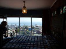 Pablo Nerudas Haus, Blick aus dem Schlafzimmer