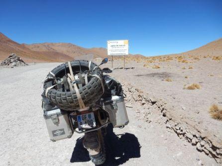 Am Abra de Gallo. Über 4.600 m