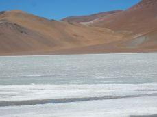 Die Laguna Diamante im Vulkan Galan