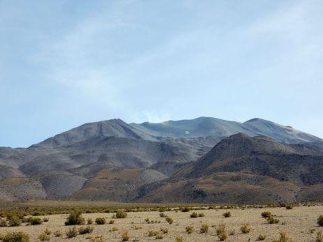 Ein letzter Blick auf den Vulkan Isluga