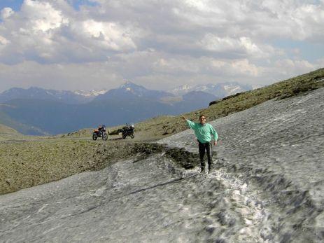 Monte Jafferau - noch im Juni mit Schnee