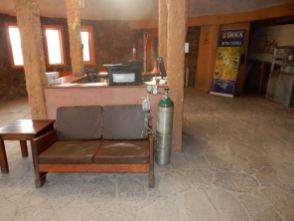 Sauerstoffflasche im Hotel Tayka Desierto - bei Gesundheitsproblemen von Gästen
