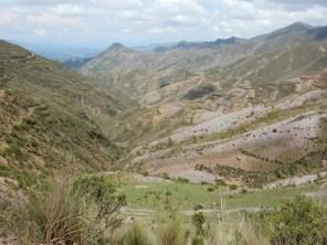 Der Weg in die Yungas.