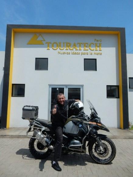 Bei Touratech in Lima, wurde bestens betreut - Gratulation an das Team um Ivan!