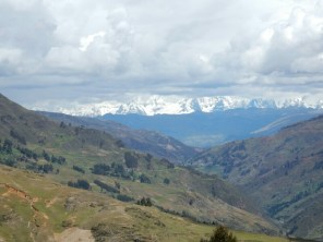Das erste Foto von den Cordillera Blanca
