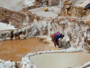 Die Salineras bei Marras werden noch heute bewirtschaftet - Salzgewinnung und Tourismus