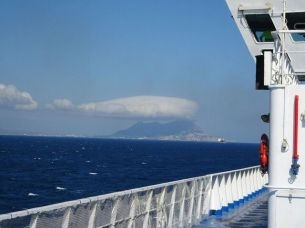 """Blick zurück zum """"Rock of Gibraltar"""""""