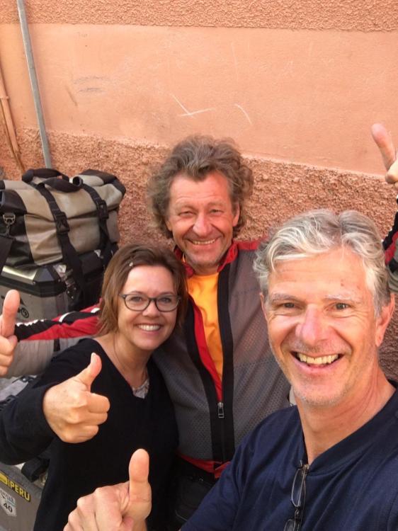 Mit sehr netten Begleitern in Marrakesch !!!