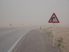 Sandsturm in der Darsht-e Kavir