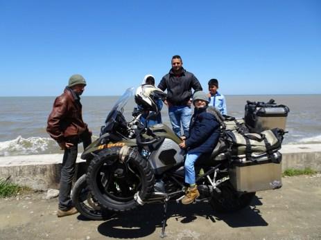 Fotos bis zum Abwinken - Kaimauer am Kaspischen Meer