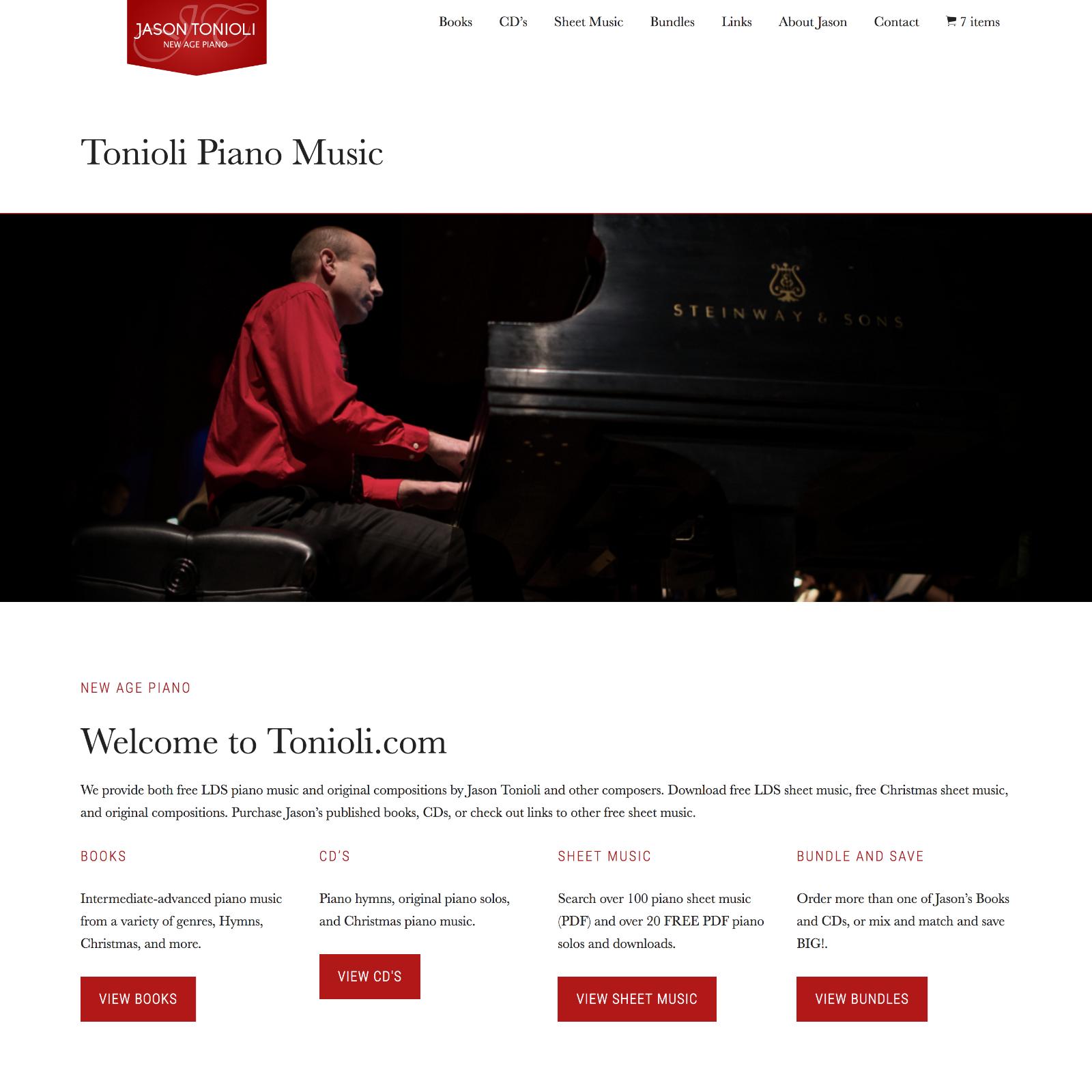 Tonioli com - Piano Hymn Arrangements and other Piano Solos