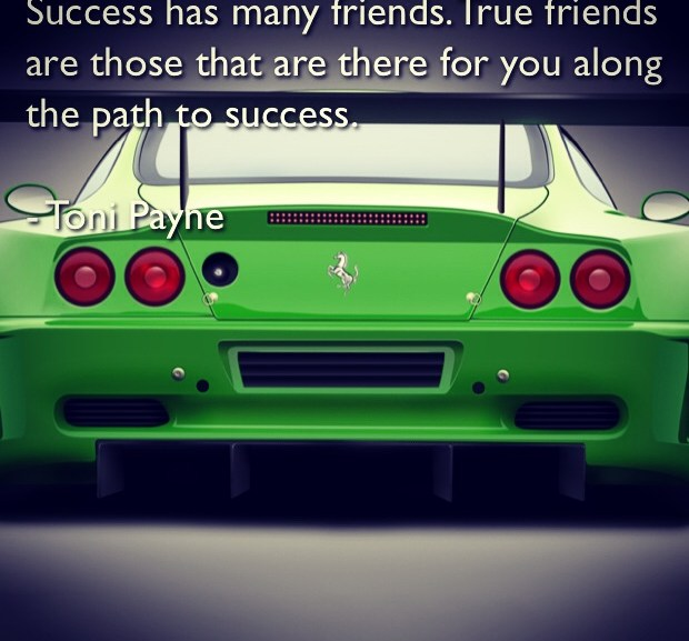 Picture Quote about Friendship and Success