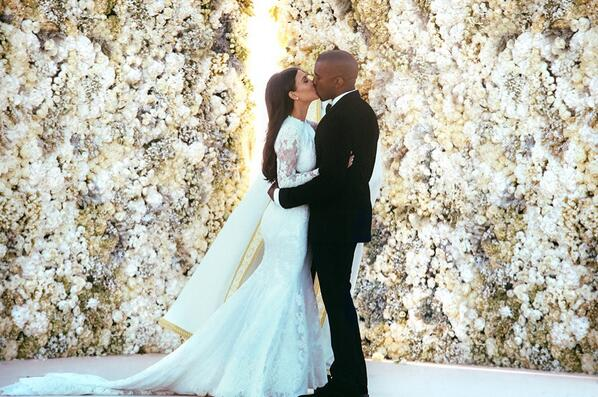 Kim and Kanye West; Official Wedding Photos – Oh so Cute!