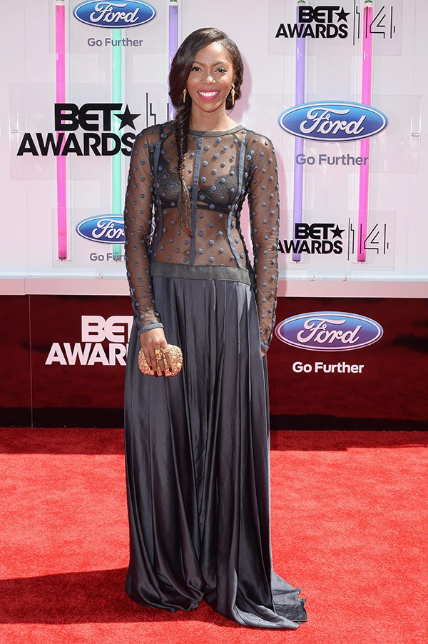 1 2014 bet red carpet Tiwa savage