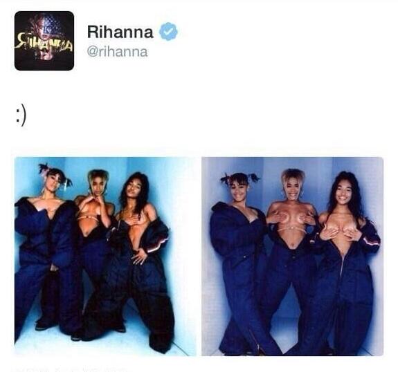 Rihanna-tcl tweet 1