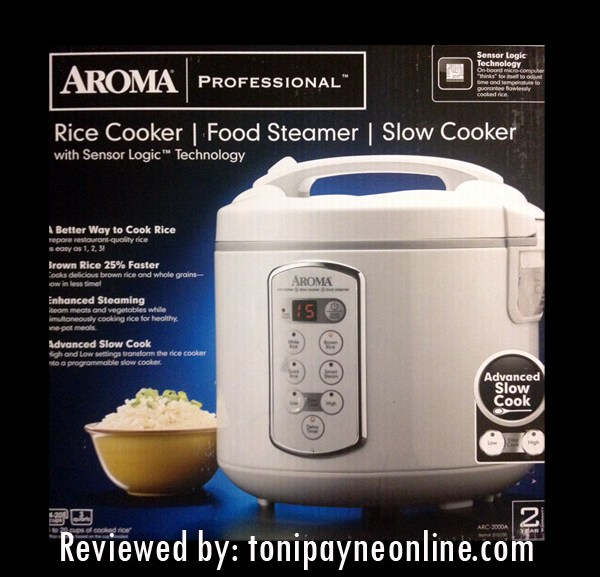 Cooking made easy with the Aroma Rice Cooker and Food Steamer