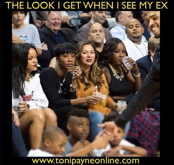 Rihanna and Chris Brown NYC Meme