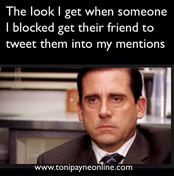 Funny Meme Picture Websites : Funny hilarious blocked twitter user meme toni payne