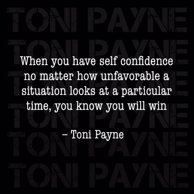 Quote About Having Self Confidence Toni Payne Official Website