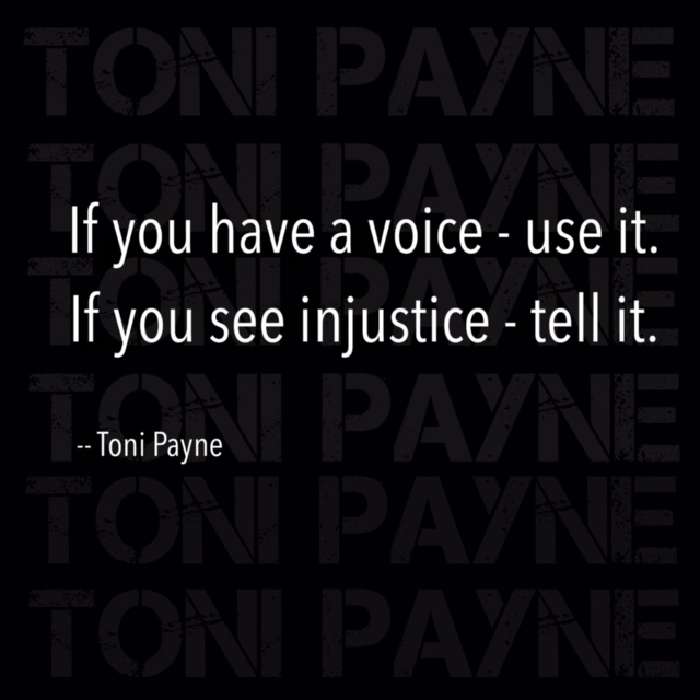 Quote about using your voice for injustice