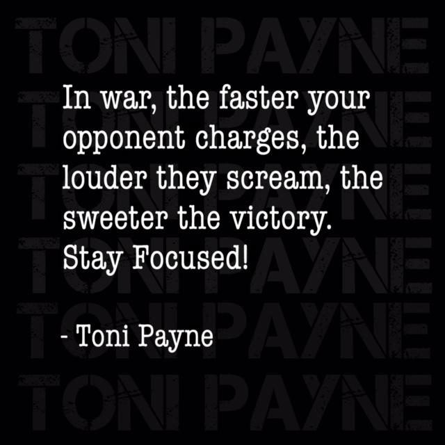 toni payne quote about winning