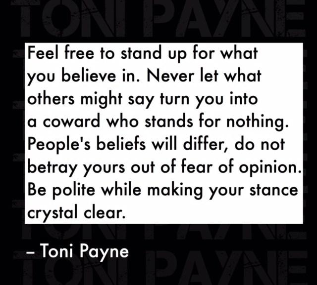 April 2016 Toni Payne Official Website