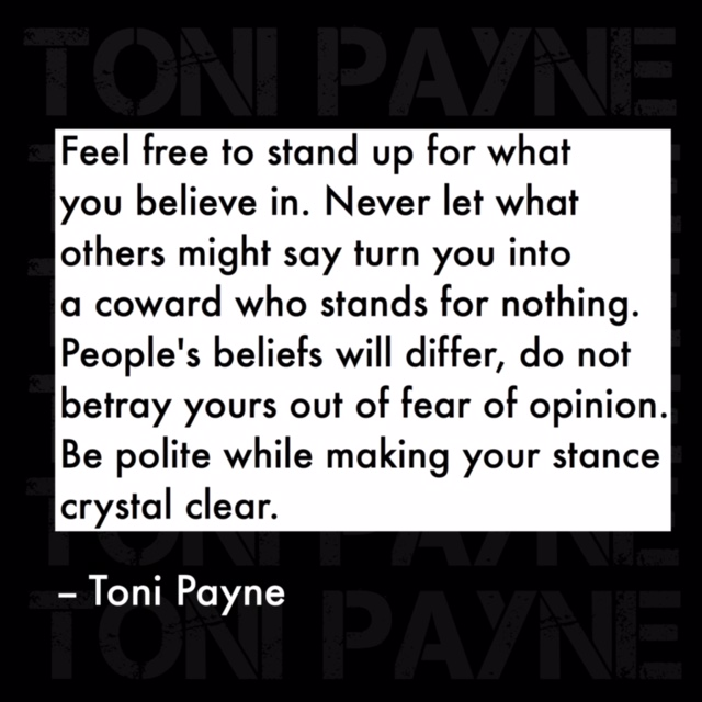 Quote about standing up for what you believe in