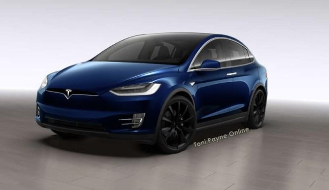 Tesla Model X 60D blue