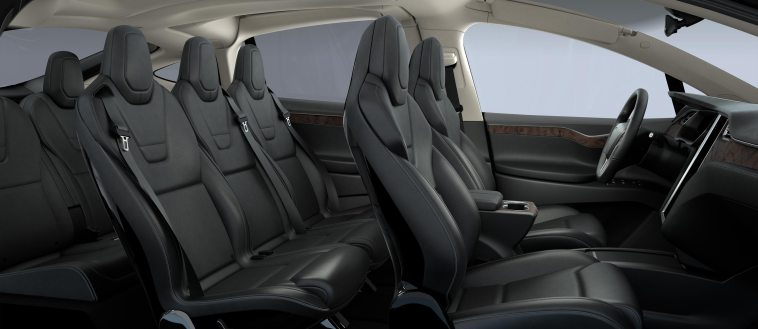 Tesla Model X 60D interior white