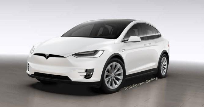 Tesla Model X 60D white