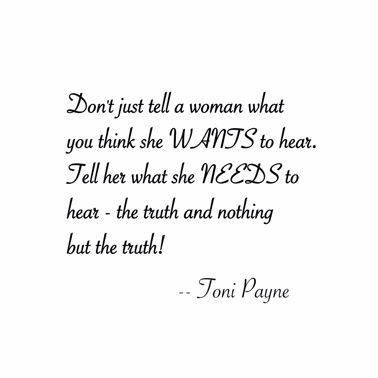 Quote About Love And Honesty Toni Payne Quotes