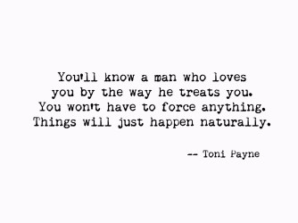 Quote about Knowing When a Man Loves You