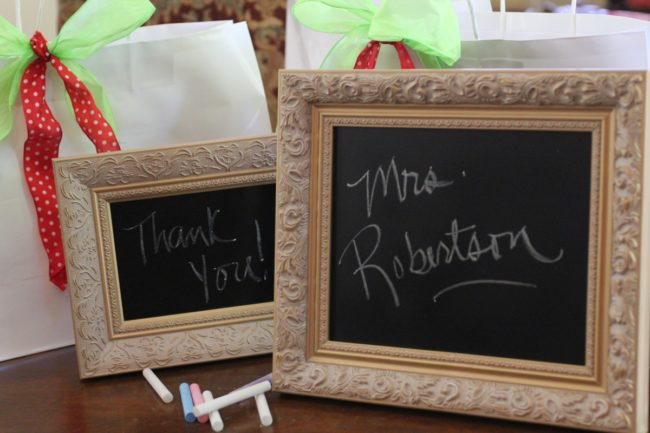 Teacher Chalkboard Paint Frames