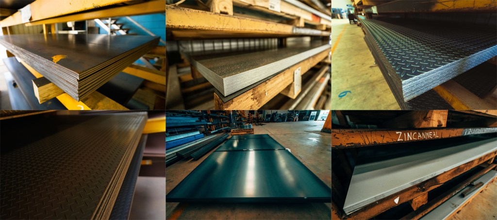 Steel pathway and industrial steel sheets