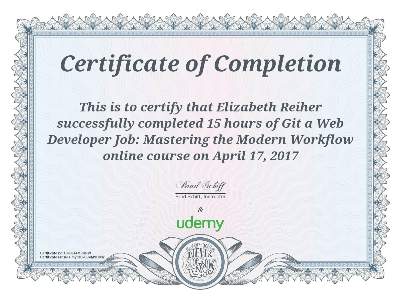 Udemy Course Completion - Git a Web Dev Job -UC-CJ4M9URW