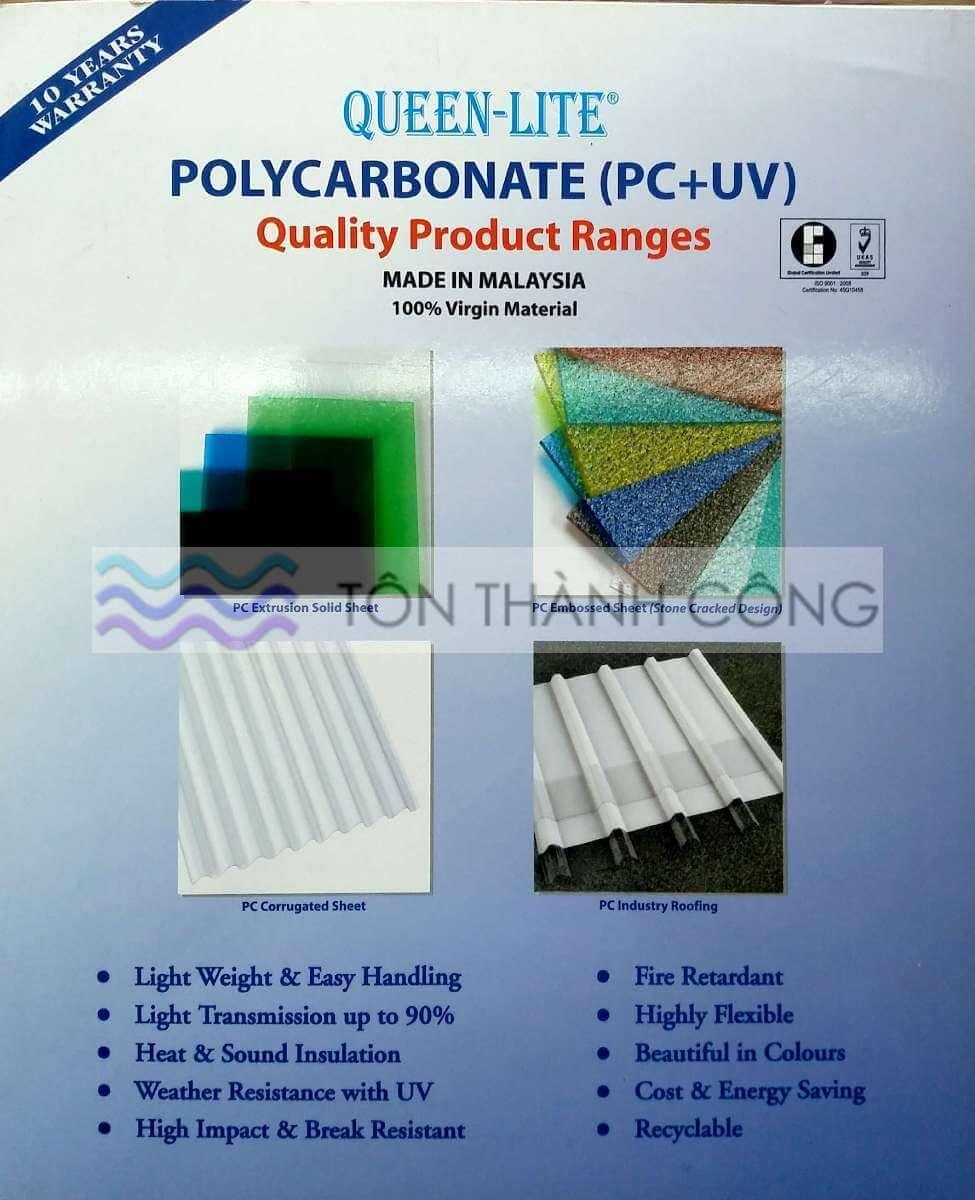 Catalog - Trang 1 - QueenLite - Tấm Polycarbonate Lấy Sáng