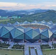 Sân vận động universiade dùng tấm polycarbonate làm mái và bao che