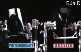 Polycarbonate vs Mica – Thử nghiệm chịu lực Búa Đập