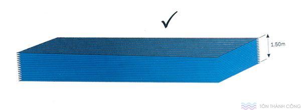 Cho tấm nằm - Vận chuyển và bảo quản polycarbonate