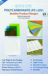 Queen-Lite – Tấm lợp lấy sáng polycarbonate đặc ruột – Catalogue 1