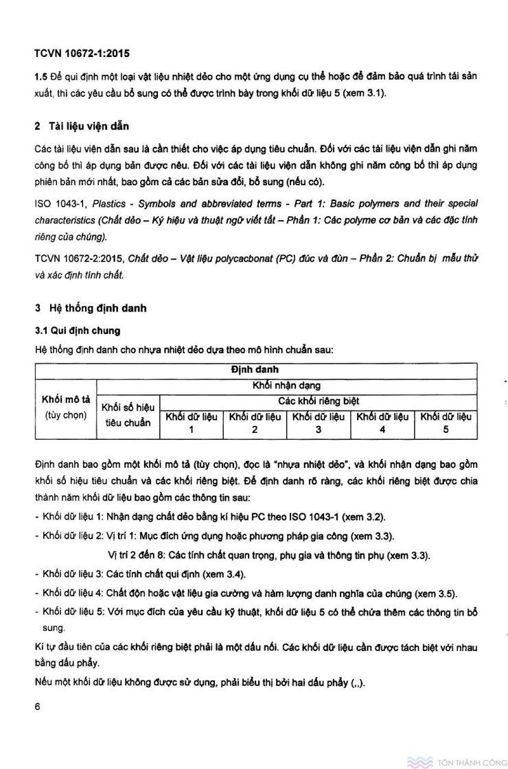TCVN 10672-1:2015 - Vật liệu polycarbonate - Trang 6