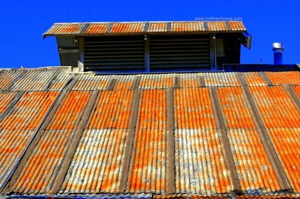 Nhà xưởng sản xuất thực phẩm đóng gói, Mái Tôn bị Rỉ Sét gần hết