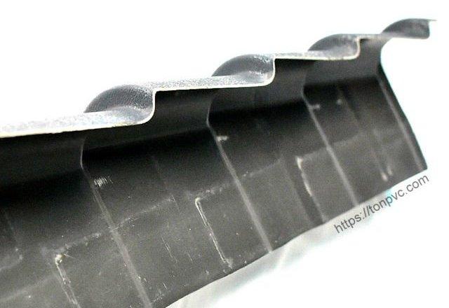 Mặt dưới của Tấm Viền Mái Trái 3c, phụ kiện Ngói Nhựa Tổng Hợp ASA/PVC
