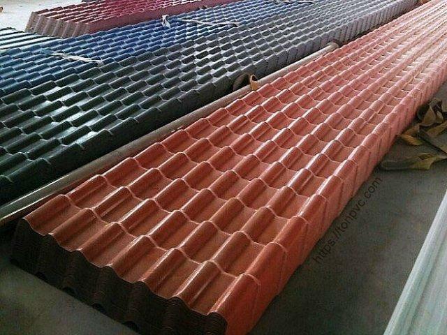 Ngói Nhựa ASA/PVC màu Xám Đen và màu Đỏ Ngói tồn kho