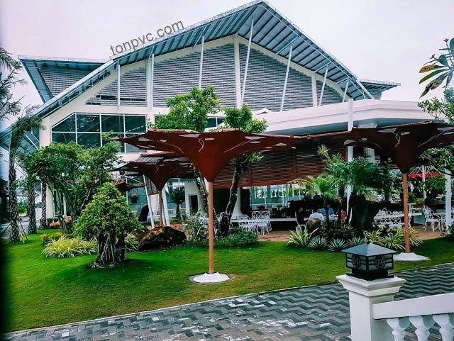 Hình 11 : mặt dựng Khu du lịch sinh thái Thư Duy, Tôn Nhựa ASA/PVC màu Trắng Sữa