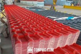 Ngói Nhựa ASA PVC 7 Sóng màu Đỏ Đô