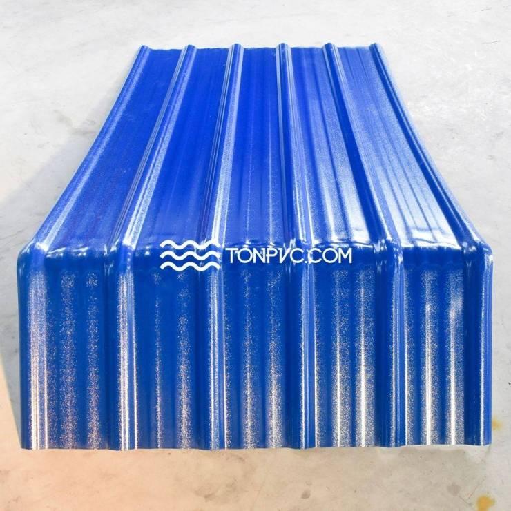 Tấm Viền Diềm Hiên Mái Tôn Nhựa Màu Xanh Dương