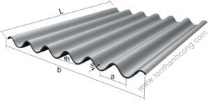 Tôn Sáng Fibro 7 Sóng - Sợi thủy tinh composite frp kháng ăn mòn