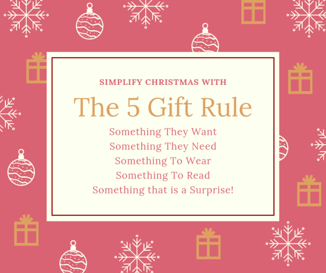 The five gift rule
